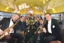 The Pasadena Roof Orchestra travelling through London.